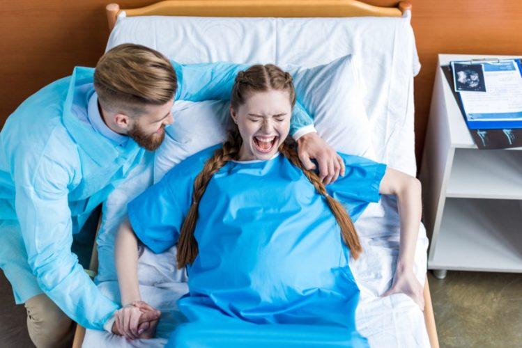 Муж во время родов